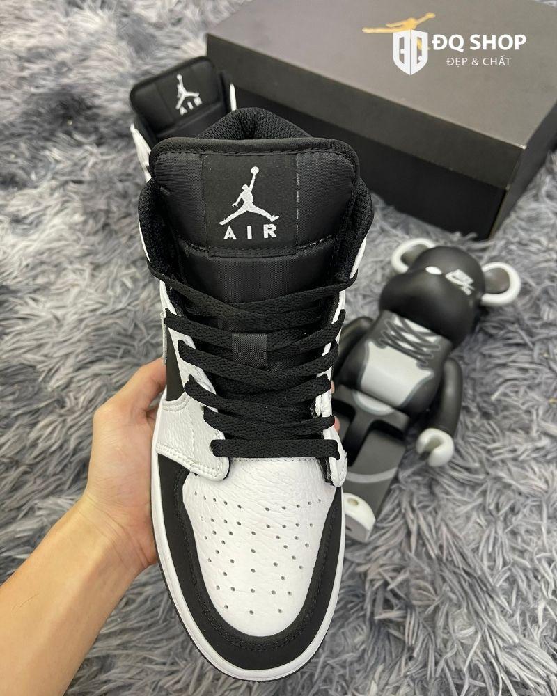 Giày Nike Air Jordan 1 mid tuxedo Trắng Đen Rep 11 Đẹp & Chất (2)