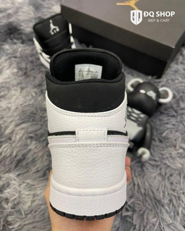 Giày Nike Air Jordan 1 mid tuxedo Trắng Đen Rep 11 Đẹp & Chất (3)