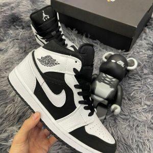 Giày Nike Air Jordan 1 mid tuxedo Trắng Đen Rep 11 Đẹp & Chất