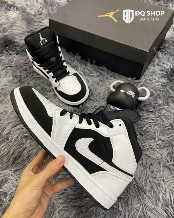Giày Nike Air Jordan 1 mid tuxedo Trắng Đen Rep 11 Đẹp & Chất (4)