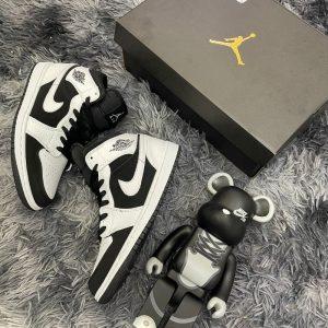 Giày Nike Air Jordan 1 mid tuxedo Trắng Đen Rep 11 Đẹp & Chất (7)